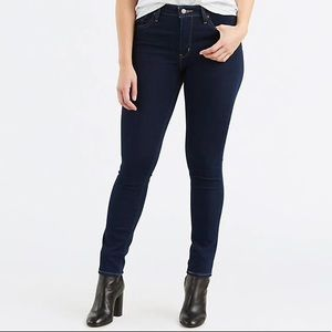 Levi's High Rise Skinny Dark Jeans